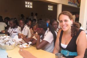 My students in Dakar throwing me a birthday party at lunch, June 2011