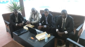 Francois Diouf, Ousseynou Cisse, Mansour Diallo, and Thierno Ngom