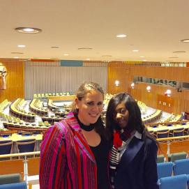 My host sister Manuela from Cameroon, heading to work for the UN